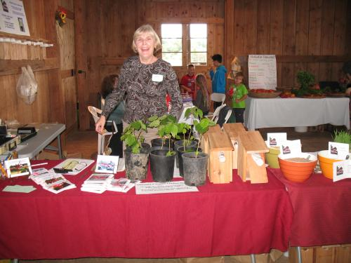 Jody Jones displays local Helvetia products